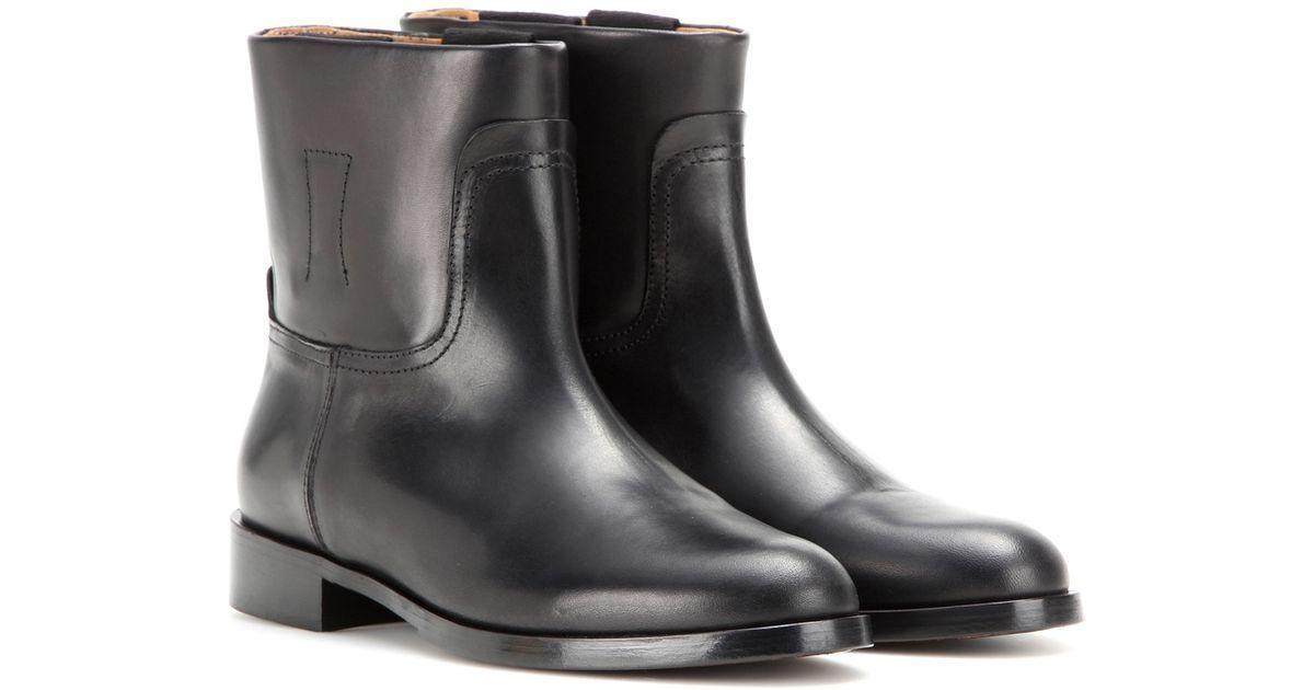 525 Rag & Bone Black Holly Leather Boots  sz EU 39.5   US 9.5