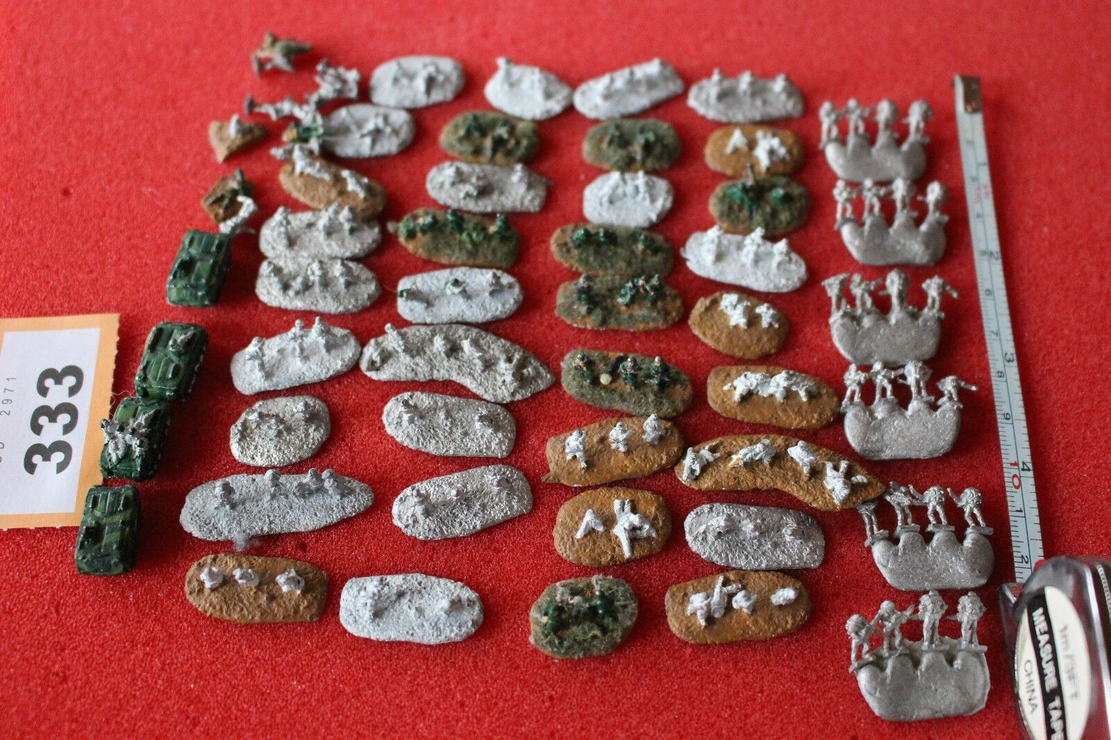 Unknown Manufacturer Tiny Scale Metal Figures Models Job Lot Army Flames of War