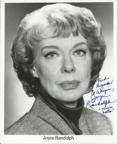 Joyce Randolph Original Autographed 8x10 Black and White Signed Photo