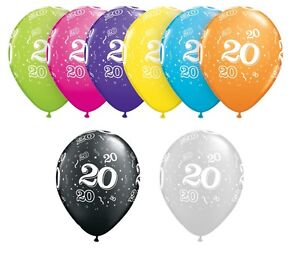 Image Is Loading 20th Birthday Party Balloons 11 034 Qualatex Pack