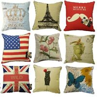 "NEW LOVELY RETRO VINTAGE PRINT/TAPESTRY EMBROIDERED CUSHION COVERS 18"" X 18"""