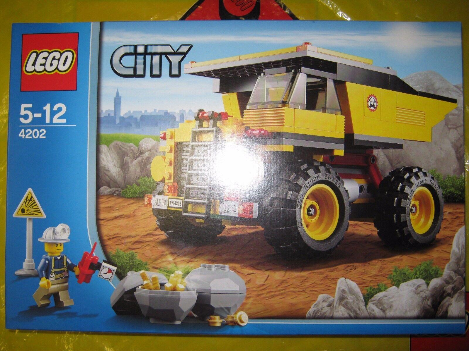 LEGO 4202 City Mining Truck - RARE RETIrot - BRAND NEW & SEALED BOXED SET BOX