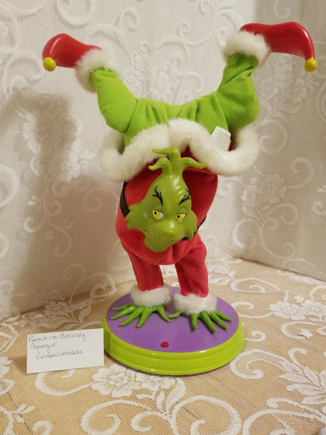 The Grinch Who Stole Christmas Hand Stand Grinch 2000 Gemmy PLEASE READ LISTING