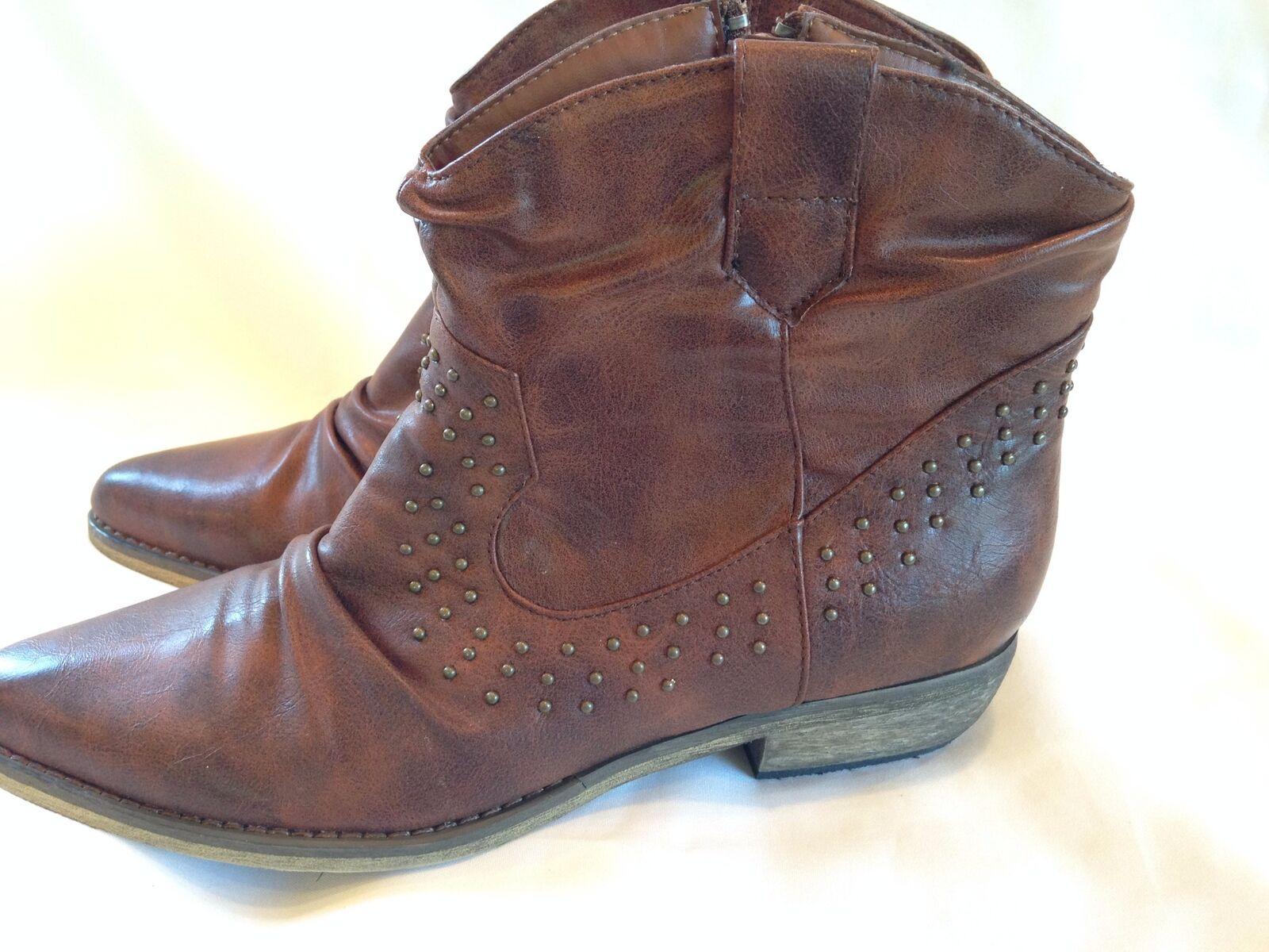 Bucco Capensis Verbane Womens Ankle Boot Cognac Size 9 Retail 0