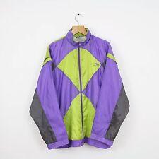 Vintage CRAZY WAVEY Purple & Green Shellsuit Jacket Top | Retro Urban Ski | XL