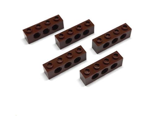 4267994 Lego Technic Stein 1 x 4 Rotbraun 5 Stück LEGO Bausteine & Bauzubehör Baukästen & Konstruktion