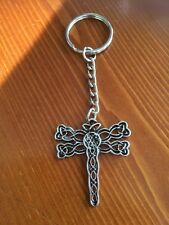 Diana Gabladan's Outlander  Inspired Celtic Dragon Fly Sliver Tone Key Ring
