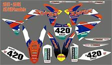 KTM Racer graphic kit to fit 125,150,200,250,300,450 2002 - 2015 FREE UK POSTAGE