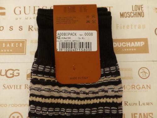 MISSONI Italian Sock CA//08 Patterned Black Size L Asstd 2//pk Socks BNIP RP£90