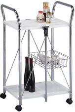 Archimede Carrello pieghevole da cucina in acciaio cromato | eBay