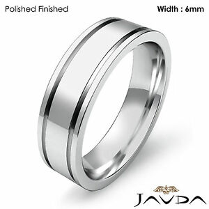 Image Is Loading Wedding Band Women Solid Platinum 950 Flat Fit