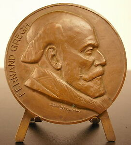 Medal-in-the-Poet-Fernand-Gregh-Academy-French-034-le-Mot-of-World-034-Medal
