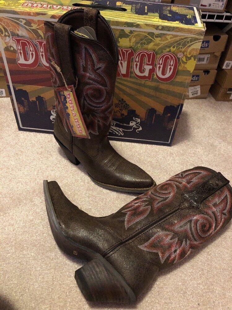Durango Cowboy Boots Crush Women's size 9 NIB Brown DCDRD011 Cowgirl Western