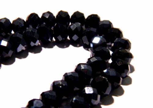 lot de 20 perles en cristal autrichien à facettes  6x4 mm