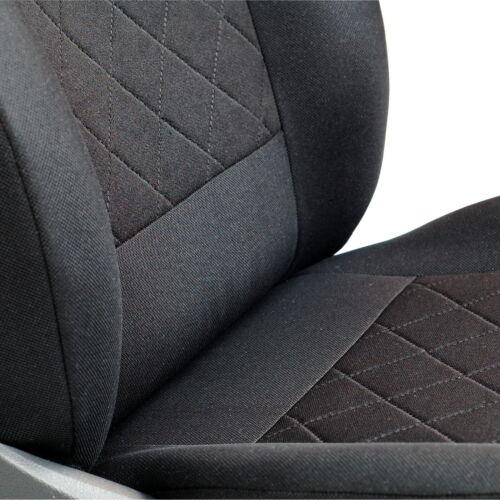Noire Sitzbezüge pour TOYOTA STARLET avant Sitzbezüge