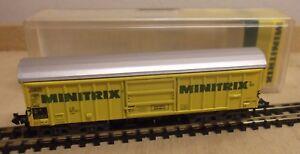 Minitrix-51-3280-00-N-CARRO-MERCI-VAGONE-tetto-apribile-DB-IMMACOLATA-IN
