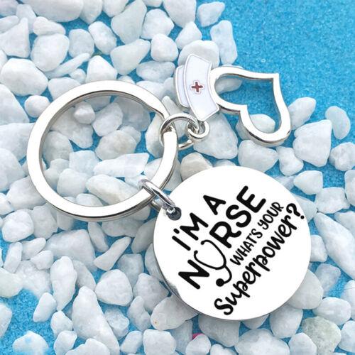 Inspirational Keychain I/'m A Nurse Nurse/'s Day Lettering Nurse Cap Gift  N7