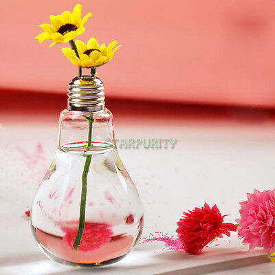 Stand Bulb Glass Plant Flower Vase Hydroponic Container Pot Home Wedding Decor