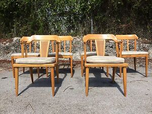 Image Is Loading 6 Tomlinson Dining Chairs Nelson Mccobb Eames Mid