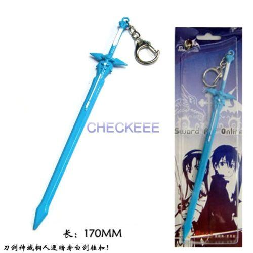Sword Art Online Kirito Kazuto Kirigaya Elucidatetor blue sword Keychain