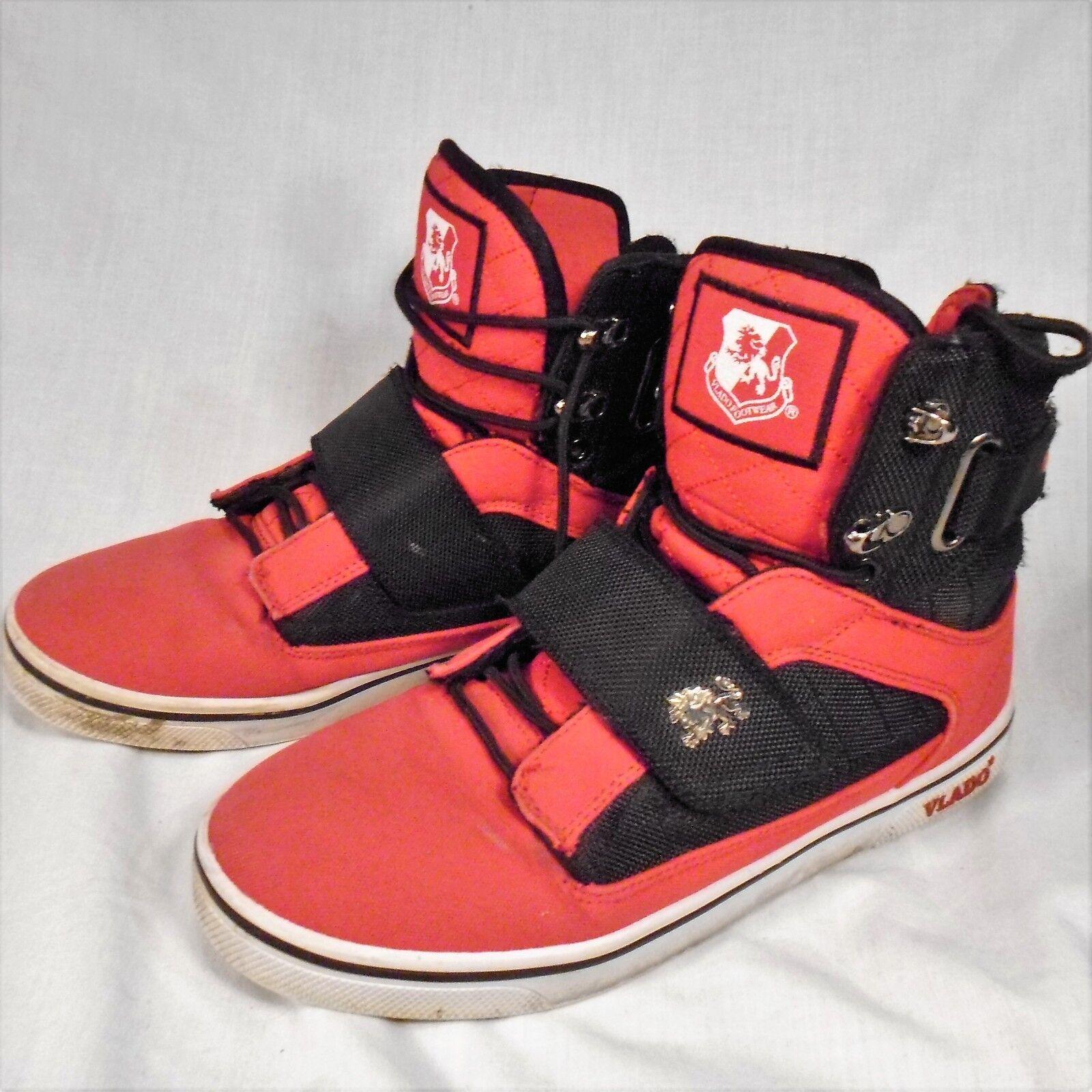 Vlado Footwear Atlas II High Tops Size 8 shoes Red & Black IG-1500-J520