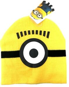 bd9138d4 Despicable Me 2 One Eye Minion Peruvian Beanie Knit Hat Ski Hat Cap ...