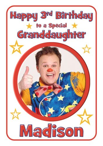Mr Tumble personalised A5 birthday card son daughter niece nephew grandson name