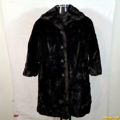Coats, Jackets & Vests Mincara Vtg Usa Faux Fur Jacket Coat Women Size 12 Russel Taylor Dark Brown Women's Clothing