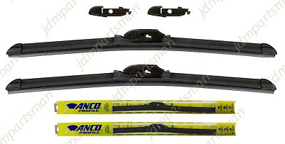 """Set of 2 ANCO CONTOUR Beam Wiper Blade 22/"""" /& 21/"""" C22UB C21UB Front"""