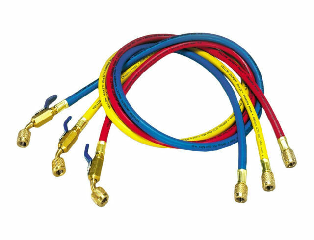 Yellow Jacket GIDDS-505049 Charging Hose Set 60 with Compact Ball Valve