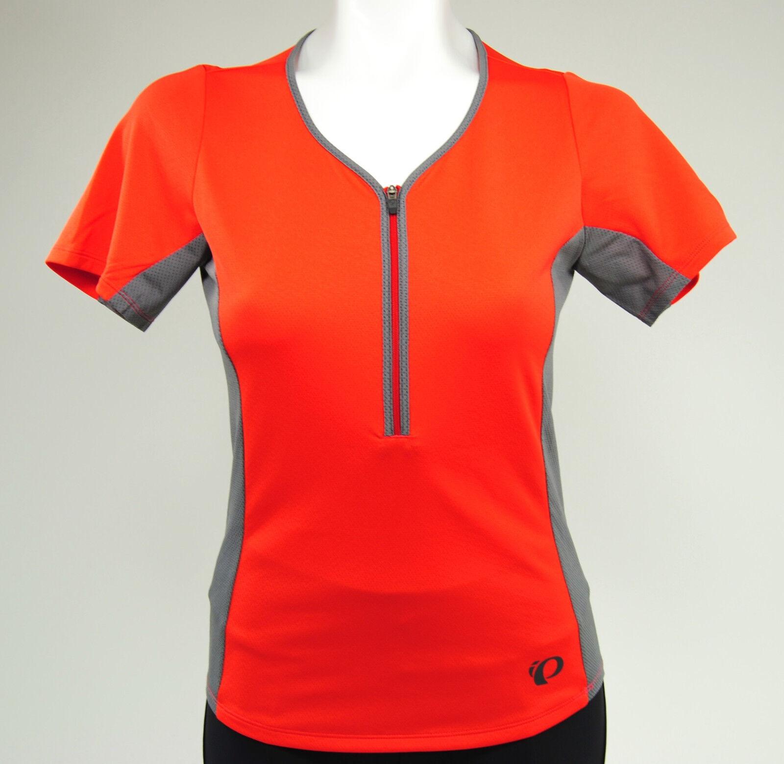 Pearl Izumi Women's Canyon Cycling Jersey, Poppy Red Smoked Pearl, Size XXL