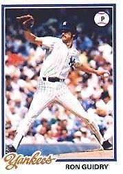 1978 Topps Ron Guidry 135 Baseball Card For Sale Online Ebay