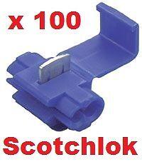 Azul 100 Scotchlok Empalme Cable Conectores scotchlock