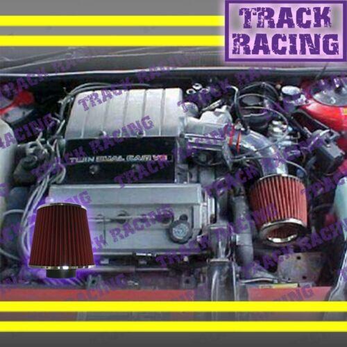1991 1992 1993//91 92 93 PONTIAC GRAND PRIX 3.4L V6 AIR INTAKE KIT Red