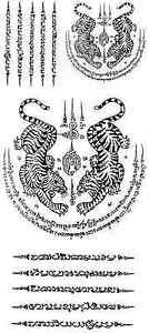 Temporary Body Art Thai Couple Tigers Tattoos Sticker Beauty by Thai Tattoo Mania