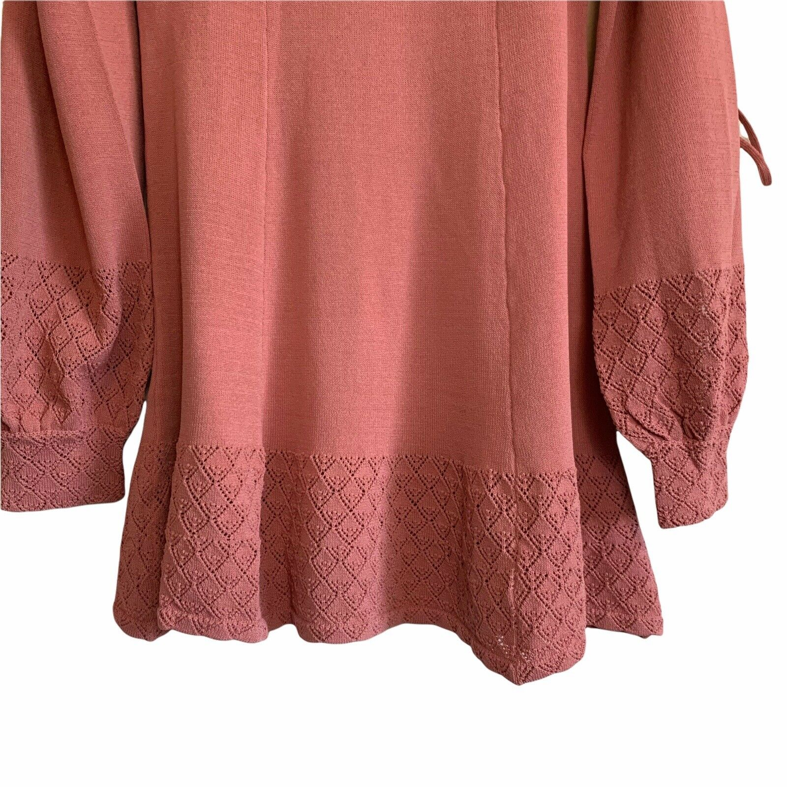 Tularosa Size Small Chic Pink Rose Tie Slit Long … - image 2