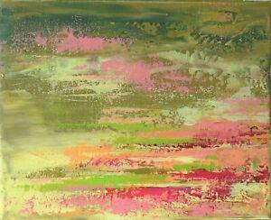 PEINTURE-SUR-TOILE-TABLEAU-ABSTRAIT-signe-HZEN-034-Fleurs-de-lichen-034-27x22
