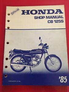 HONDA-1985-CB125S-SERVICE-Shop-CB-125-S-MANUAL-PART-MS4418511-New