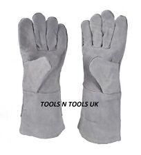 "13"" Heat Resistant Melting Furnace Leather Gloves Refining Casting Gold Copper"