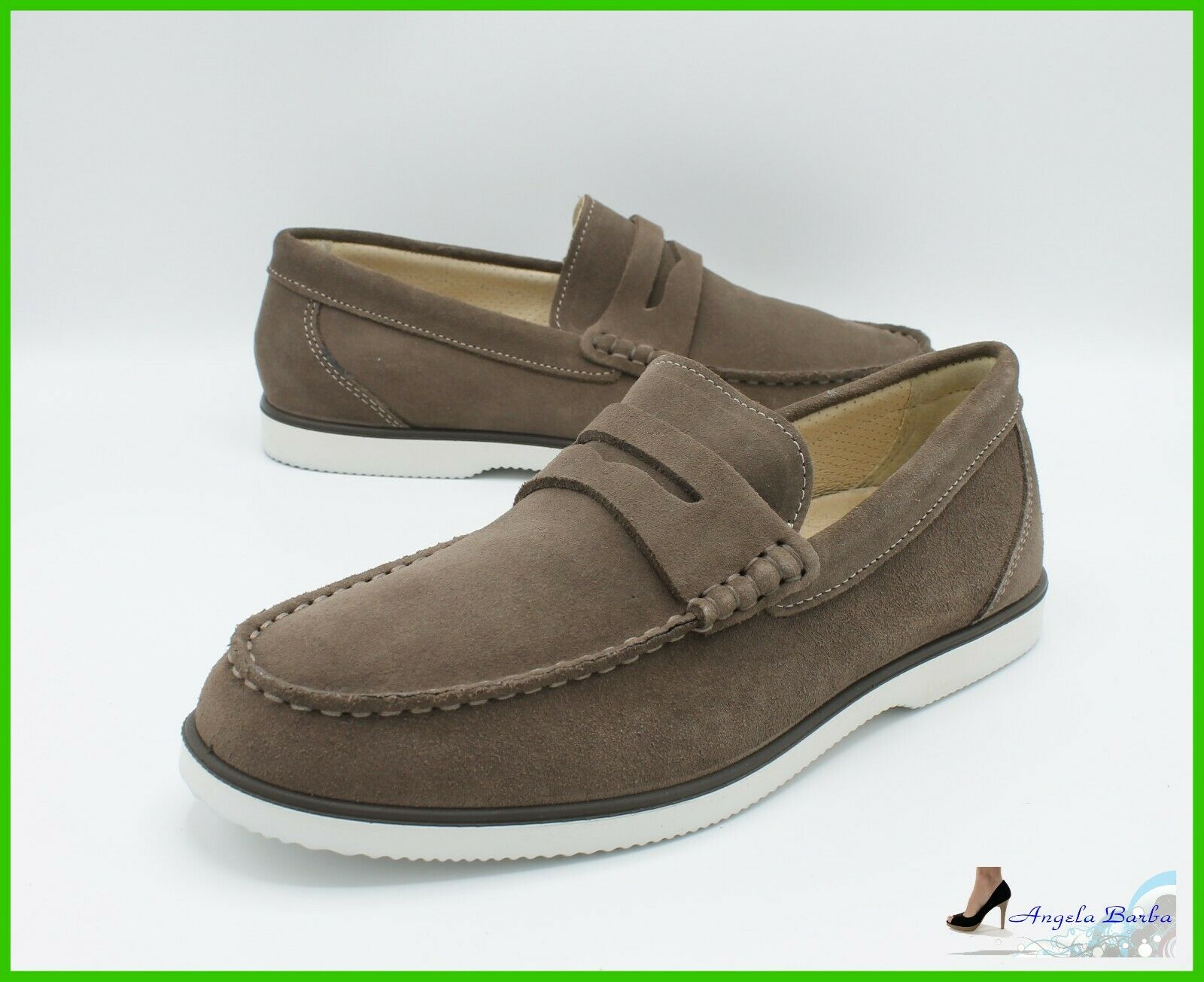 Loafers Men's Igi & Co shoes Suede and Leather Elegant Summer Moccasin