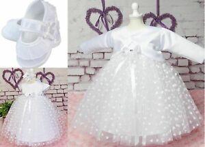 Princessin Taufkleid Set 4 Pièces Bandeau Boléro Chaussures 56 - 98 Top Qualité-afficher Le Titre D'origine
