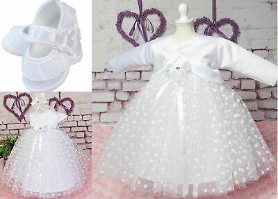 Principessa Battesimo Set 4 Pezzi Nastro Frontale Bolero Scarpe 56 - 98 Alta Qualità-mostra Il Titolo Originale