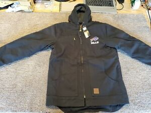 NFL-Buffalo-Bills-DB-Workwear-Tradesman-Canvas-Quilt-Lined-Jacket-Navy-Small