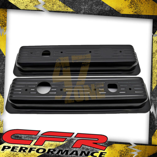 1987-00 Chevy Gmc 5.0L /& 5.7L Center Bolt Steel Valve Cover Caps Black