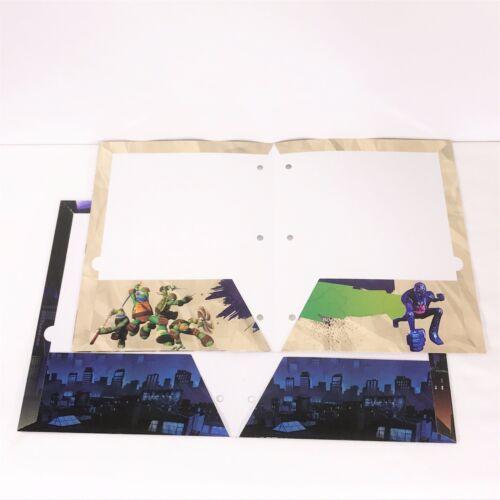 TMNT Teenage Mutant Ninja Turtles Nickeloden Pocket School Folders Set of 2