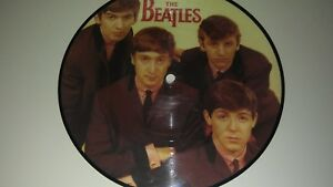 Gem-mint-Stunning-45-7-THE-BEATLES-UK-20th-ANNIVERSARY-PICTURE-DIsc-love-me-do