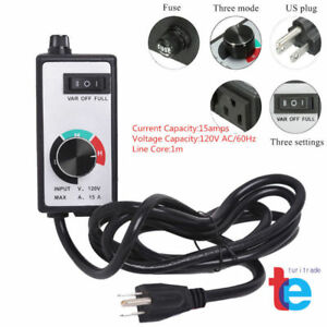 For Router Fan Variable Speed Controller Electric Motor Rheostat AC 120V Newest 743828949044