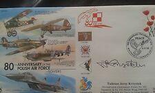 CC56 Polish Air Force aircraft RAF cover signed polish author Tadeusz Krzystek