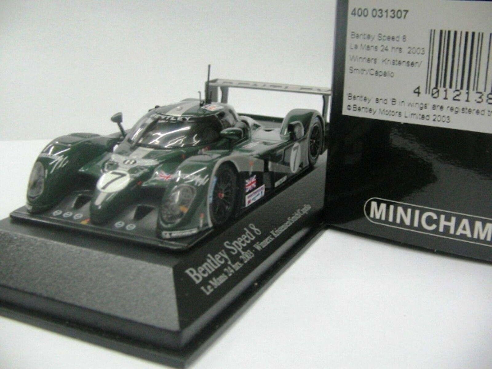Wow extrêmement rare BENTLEY EXP 8 2003  7 WINNER 24 H Le Mans 1 43 Minichamps GT