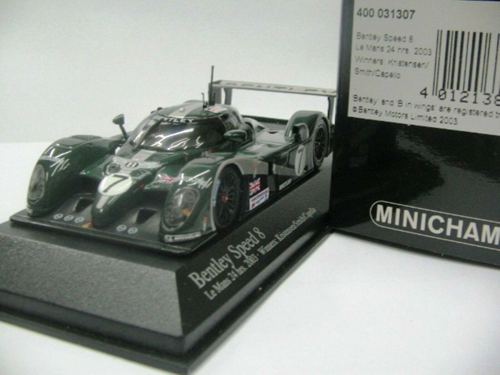 WOW estremamente raro Bentley EXP 8 2003  7 WINNER 24h LE MANS 1 43 Minichamps GT